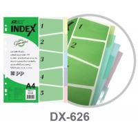 Plastic Index Dividers with 5 Tabs A4 DX626 Assorted Color