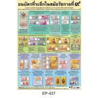 Commemorative Banknotes of His Majesty the late King Bhumibol Adulyadej Poster EP-437