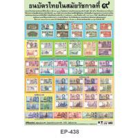Banknotes issued during the reign of His Majesty the King Bhumibol Adulyadej Poster EP-438