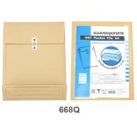 Plastic Envelopes with Button and String Closure A4 668Q