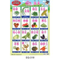 Thai-Mandarin Vocabulary Vegetables Educational Paper Posters EQ-319