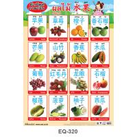 Thai-Mandarin Vocabulary Fruits Educational Paper Posters EQ-320