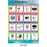 Thai-English-Mandarin Home Electrical Appliances Paper Posters EQ-469