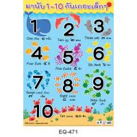 Counting Numbers Paper Posters 1-10 Sea Animals Set EQ-471