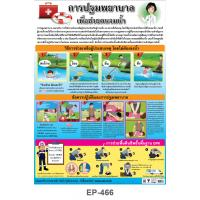 First Aid Treatment for Drowning Plastic Posters EP-466