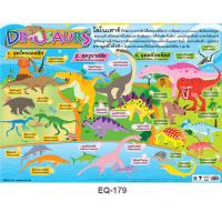 The World of the Dinosaurs Educational Paper Posters EQ-179