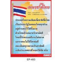 Thai National Song Plastic Posters EP483