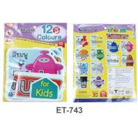 Plastic Flash Cards for Board Displayed Learning 12 Colors Robot ET-743