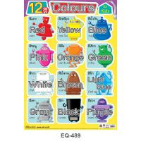 Learning 12 Colors Paper Posters EQ-489 Robot