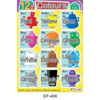 Learning 12 Colors Plastic Posters EP-489 Robot