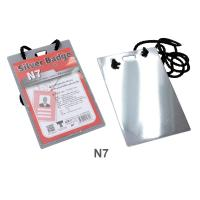 PP Foam Neck Strap Card Silver color N7