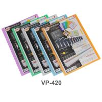 Customized Title Page Display Book A4 20 Pockets VP-420 assorted color