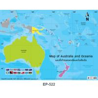 Map of Australia and Oceania Plastic Posters EP522