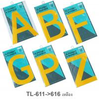 PP Foam Large Letter Signs Alphabet A B F G P Z TL-611-6 Yellow