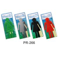 PP Foam Large Restroom Signs Women PR266 Assorted Colors