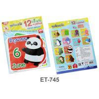 12 months Plastic Flash Cards for Board Displayed ET-745