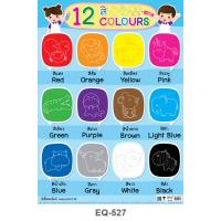 Learning 12 Colors Paper Poster EQ-527