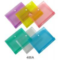 Landscape Plastic Envelope with Snap Button Closure A5 Side Expanding 405A Assorted Color