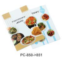 Display Food Menu Folder A4 10 Pockets with Cover Printed PC-850-1