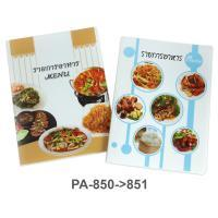 Display Food Menu Folder A4 20 Pockets with Cover Printed PA-850-1