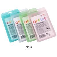 Vertical Plastic ID Card Holder No.N13 Assorted Translucent Color