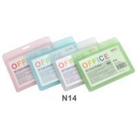 Horizontal Plastic ID Card Holder No.N14 Assorted Translucent Colors