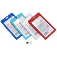 Vertical Plastic ID Card Holder No.N17 Assorted Colors
