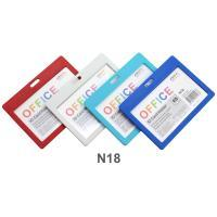 Horizontal Plastic ID Card Holder No.N18 Assorted Colors