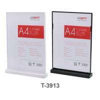 Clear T Sign Holder Double Sided Display T3913