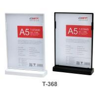 Clear T Sign Holder Double Sided Display A5 T368