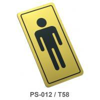 PP Foam Plastic Signs Men 1.5x3 inch. PS-012/T58 Gold