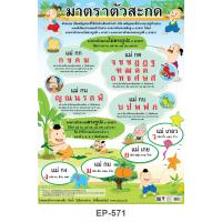 Thai Final Consonants Table Plastic Posters EP-571