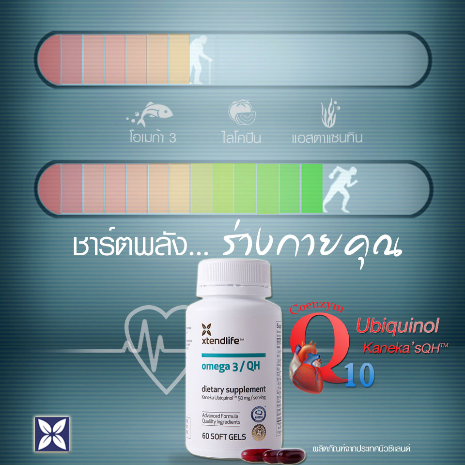 fish oil,  fish oil benefits,  omega 3 fish oils,  CoQ10 Supplement  CoQ10 Ubiquinol for Heart  Muscle Health and Cellular Energy for Over 40's  Enhancing pure fish oil with Ubiquinol Coenzyme Q10   the Omega 3 QH ULTRA  xtendlife  xtendlifethailand