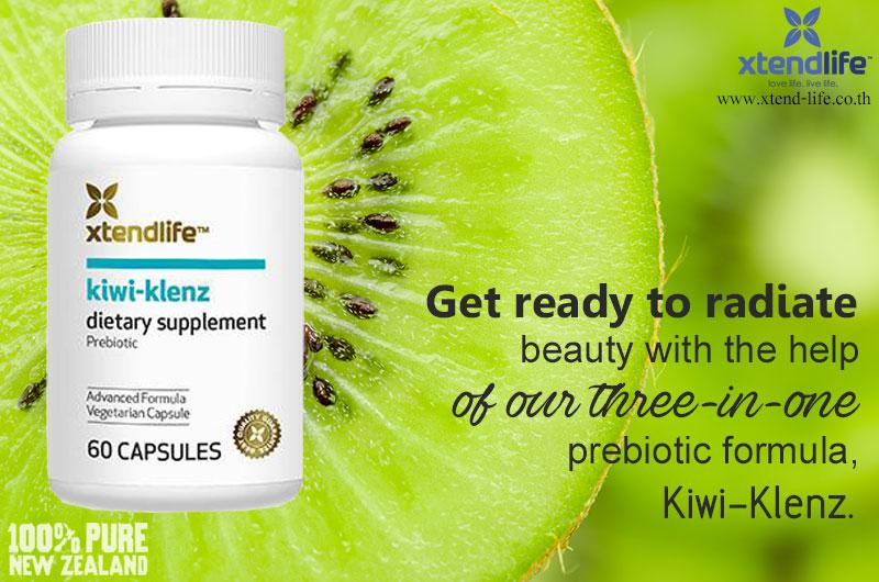Kiwi-Klenz (Kiwifruit)  Kiwi Fruit extract  Digestive Enzymes and Fiber with 100% New Zealand Kiwifruit  xtendlife  xtendlifethailand