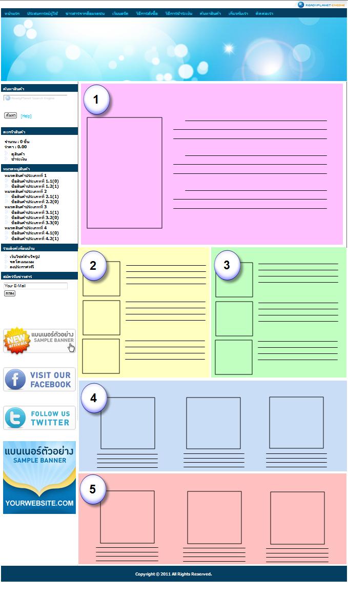 Layout / Sitemap ของเว็บไซต์
