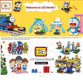 www.loztoysth.comจำหน่ายของเล่น LOZ Toys วัสดุผลิตจากพลาสติก
