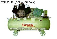 IWATA , AIR COMPRESSOR , เครื่องอัดลมคุณภาพสูง , Heavy Duty , Oil Free , ชนิดไม่ใช้น้ำมัน