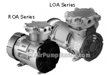 ROA Series , LOA Series , 71 - 72 R Series ,Twin Cylinder Compressor , Twin Cylinder Vacuum Pump