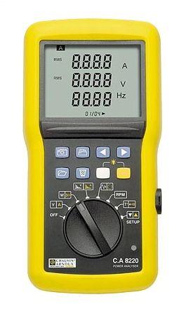 CA8220 เครื่่องวัดพลังงานไฟฟ้าแบบพกพาหน้าจอดิจิตอล