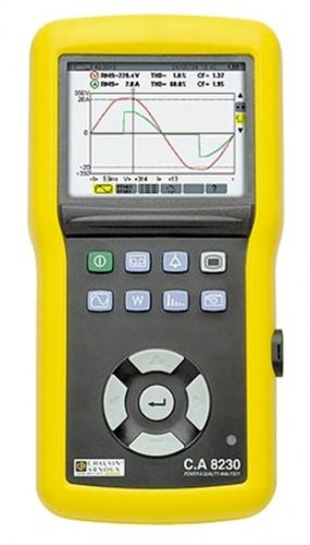 CA 8230 เครื่องวัดพลังงานไฟฟ้าแบบพกพาหน้าจอดิจิตอลและกราฟฟิก