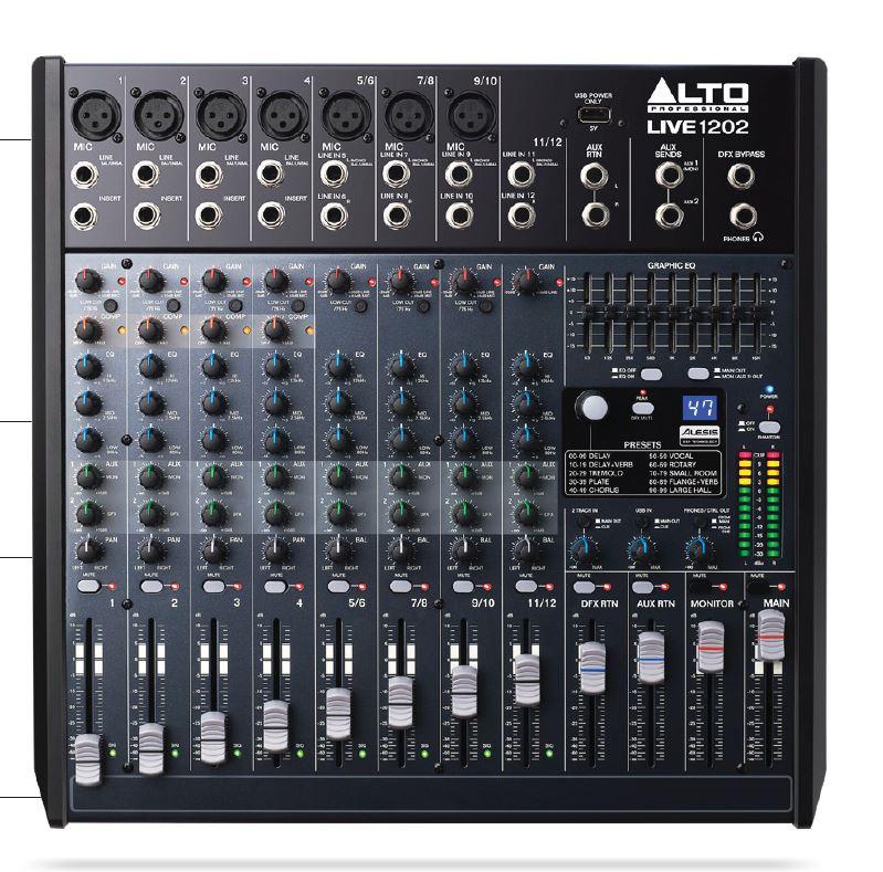มิกเซอร์,ALTO,LIVE1202,1202,12CH,ราคาโปรโมชั่น,พิเศษ,ราคา,ที่นี่ที่แรก,ของแท้,รับประกันคุณภาพ,เครื่องเสียงกลางแจ้ง