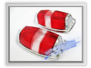Auto Pro. Tail Light Red-Red Lenses Classic Mercedes-Benz W121 190 190D 190SL Ponton