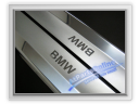 Auto Pro. Folded Edge Sandblast Chrome Door Sill Cover BMW E36 Coupe and Convertible 316 316i 318is 320i 323i 325i 325is 328i M42 M44 M50 M52
