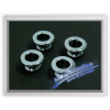 Auto Pro. Chrome Coated Metal Door Ring Bushing Knob Mercedes-Benz all W124 W126 W201 W202 W203 W210 Models