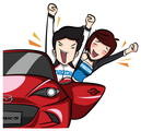Mazda Official LINE Account,Mazda Official LINE,Mazda LINE,Mazda LINE sticker,Mazda sticker,��ʴ���Ź��Ϳ������