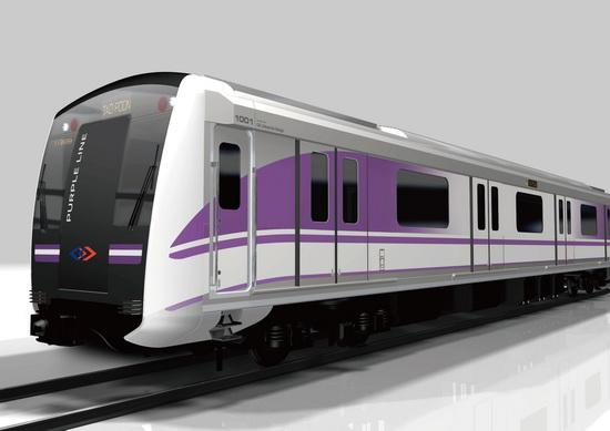 โครงการรถไฟฟ้าสายสีม่วง,รถไฟฟ้าสายสีม่วง,รับมอบรถไฟฟ้าจากญี่ปุ่น,โครงการรถไฟฟ้า,ส่งมอบรถไฟฟ้าสายสีม่วง,BMCL,รถไฟฟ้ากรุงเทพ,ช.การช่าง