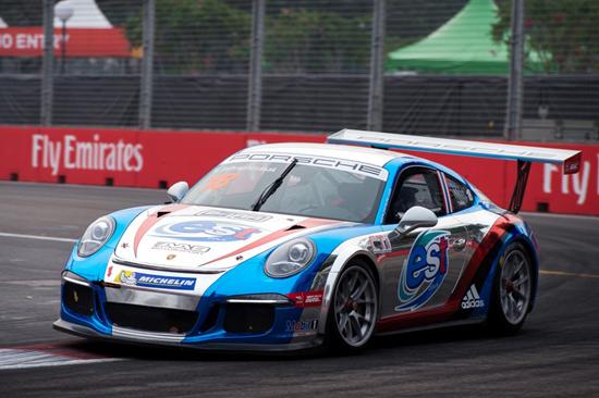 Est Cola Racing Team,วุฒิกร อินทรภูวศักดิ์,Porsche Carrera Cup Asia 2015 สนามที่ 11,สนามแข่ง Marina Bay Circuit สิงคโปร์