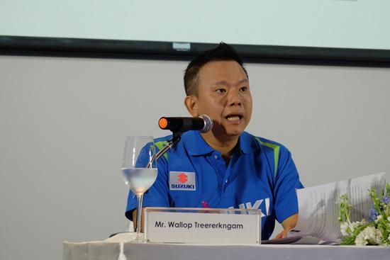 บริษัท ซูซูกิ มอเตอร์ (ประเทศไทย) จำกัด แถลงข่าวแนะนำผู้นำองค์กรคนใหม่ มร.โยจิ มุโรซากะ กรรมการผู้จัดการใหญ่ บริษัท ซูซูกิ มอเตอร์ (ประเทศไทย) จำกัด คนล่าสุด พร้อมกันนี้ นายวัลลภ ตรีฤกษ์งาม ผู้อำนวยการฝ่ายขายและการตลาด บริษัท ซูซูกิ มอเตอร์ (ประเทศไทย) จำกัด ร่วมแถลงผลประกอบการประจำปี 2558 และนโยบายการดำเนินงานในปี 2559 อีกทั้งการเปิดตัวแบรนด์แอมบาสเดอร์ซูซูกิ ณ โรงแรมเรเนซอง ราชประสงค์ กรุงเทพฯ เมื่อวันที่ 3 กุมภาพันธ์ 2559