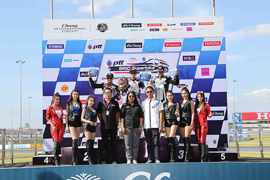 YAMAHA RIDERS CLUB RACING TEAM,ALL THAILAND SUPERBIKES CHAMPIONSHIP 2017 สนามที่ 2,ผลการแข่งขัน ALL THAILAND SUPERBIKES CHAMPIONSHIP 2017 สนามที่ 2,YAMAHA RIDERS CLUB,อนุชา นาคเจริญศรี,อานนท์ สังวาลย์,ประวัติ ญาณวุฒิ