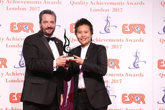 ลามิน่าคว้ารางวัล การบริหารจัดการภายในองค์กรยอดเยี่ยม,ESQR's Quality Achievements Awards 2017,จันทร์นภา สายสมร,เทคโนเซล (เฟรย์),ฟิล์มกรองแสงรถยนต์ลามิน่า,ฟิล์มกรองแสงลามิน่า